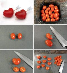 Hartjes van tomaatjes - how cute? ♥ Foodness - good food, top products, great