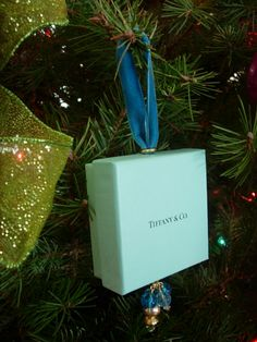 Tiffany Box Christmas Ornament