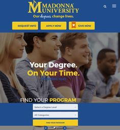 Website Development for Education Industry in the USA - Madonna University Web Application Development, Website Development Company, Web Development, Home Quotes And Sayings, Free Quotes, University Website, Corporate Profile, Portfolio Website