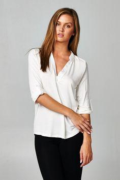 Lauren Shirt in Soft White on Emma Stine Limited