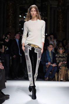 Balmain at Paris Fashion Week Fall 2012 - Runway Photos Runway Fashion, High Fashion, Fashion Show, Fashion Outfits, Womens Fashion, Fashion Design, Fashion Trends, Paris Fashion, Black And White Pants