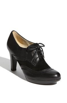 NATURALIZER NEW SZ 10.5 M BLACK LEATHER OXFORD PLATFORM PUMPS BOOTIES #Naturalizer #LaceUps