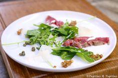 Salade au boeuf, au Parmesan et aux Câpres #Cuisine #Cooking #Recette #Recipe