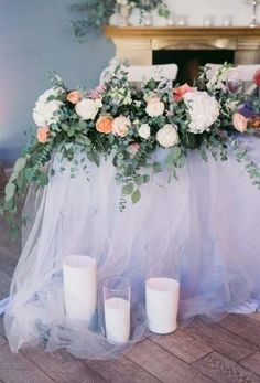 Ideas wedding table decorations blush for 2019 Trendy Wedding, Diy Wedding, Wedding Flowers, Wedding Games For Guests, Church Wedding Decorations, Sweetheart Table, Floral Arrangements, Wedding Country, Weddings
