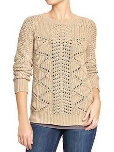 Women's Textured Cable-Knit Sweaters | Old Navy