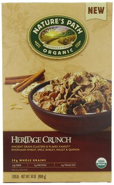 Nature's Path Organic Heritage Crunch Cereal, 14-Ounce (Pack of 6) >>> You can find more details by visiting the image link.