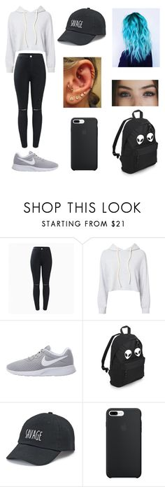 """Untitled #147"" by ladivazamendes on Polyvore featuring Monrow, NIKE and SO"
