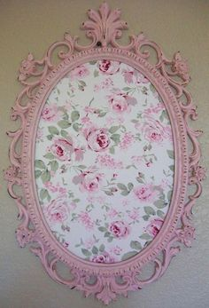 Cindy Martinez saved to shabby Shabby Chic.Great idea to use an old mirror or frame.repaint it and add fabric to make a memo board! 29 Creative Shabby Chic Furniture Plans To Consider For Your Cottage Shabby Chic Sofa, Rose Shabby Chic, Style Shabby Chic, Shabby Chic Vintage, Shabby Chic Crafts, Shabby Chic Bedrooms, Shabby Chic Furniture, Shabby Chic Decor, Vintage Home Decor