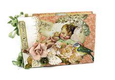 Scrapbook Mini Album Vintage Baby Brag Book by SapphireNoteables