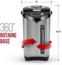 Chefman Electric Hot Water Pot Urn w/ Auto & Manual Dispense Buttons, Safety Lock, Instant Heating for Coffee & Tea, Auto-Shutoff/Boil Dry Protection, Insulated Stainless Steel, 5.3L/5.6 Qt/30+ Cups electric hot  water#water pot Kitchen Electronics, Thing 1, Quality Kitchens, Hot Pot, Catering Events, Keurig, Manual, Caffeine, Electric