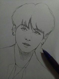 New art dibujos pop ideas Jungkook Fanart, Kpop Fanart, Bts Jungkook, Kpop Drawings, Cool Art Drawings, Art Drawings Sketches, Pencil Drawings, Easy Sketches To Draw, Anime Sketch