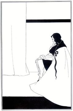 The Fall of the House of Usher, 1894-1895  Author: Aubrey Beardsley (1872 - 1898)  Series: Illustrations of short stories by Edgar Allan Poe
