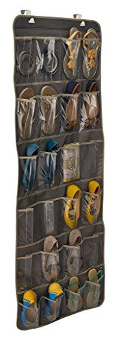 ClosetMaid 31496 Over-The-Door Shoe Organizer, Gray Door Shoe Organizer, Laundry Organizer, The Doors, Closet Storage, Organization, Pocket, Gray, Bags, College