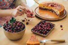 Cherry Cake, Waffles, Cheese, Breakfast, Food, Morning Coffee, Essen, Waffle, Meals