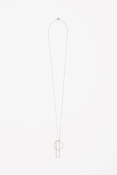 Shaped pendant necklace