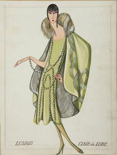 LESBOS, dessin 1925 -� Patrimoine Lanvin (300)