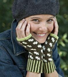 Spend St. Patrick's Day in Style! #Craft these lovely mitts. |Visit Joann.com or JoAnn Fabric and Craft stores for all your crochet supplies.
