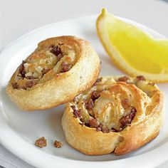 Savory Sausage Breakfast Rolls - Filled with sausage and cheese, these hit the spot on a chilly fall morning. We like reduced-fat pork sausage, but turkey sausage also works.
