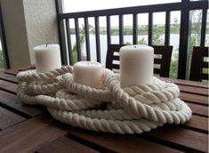 Nautical candle centerpiece. Love!