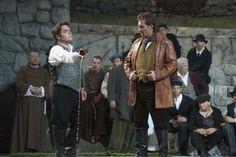 Cavalleria Rusticana. Turiddu (Francesco Anile) and Alfio (Alberto Gazale)