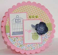 Designed by maryross: Baby girl shower card or invitation details and pics, Aviary