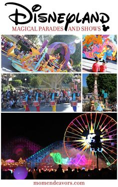 Magical parades and shows at Disneyland! Pictures of Mickey's Soundsational Parade, Fireworks, and World of Color via momendeavors.com. #Disney