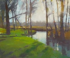 "Frank Hobbs: ""Oxford, Spring,"" oil on canvas, 22 x 30 in. Private Collection"