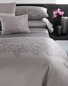 Duvet sets include duvet and two standard shams. Comforter sets include comforter and two standard shams. Sheet sets include flat sheet, fitted sheet and two standard pillowcases. King sets have King cases. Coordinates with Port Stripe sheets in Plum and Jagged Grid coverlet in Azuki.
