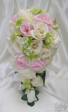 17 Pieces Package Silk Flower Wedding Decoration by LilyOfAngeles, $209.99