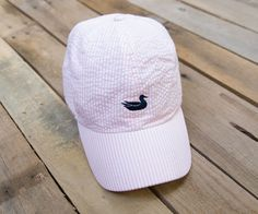 Pink & Seersucker - Whats not to love?  Southern Marsh Collection — Limited Edition! The Southern Marsh Hat - Seersucker