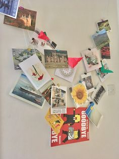 Postcards, cord and memories.