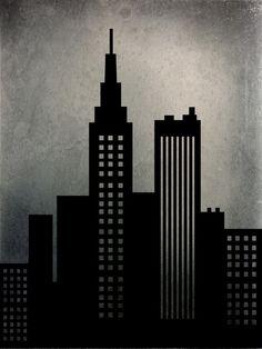 """City Skyline"" Art Print by Ally Coxon on Society6."