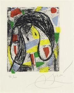 Artwork by Joan Miró, La révolte des caractères, Made of aquatint, etching