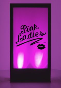 Hollywood Theme Party Ideas, Hollywood Party Decorations | Event Prop Hire : Grease Pink Ladies Silhouette Panel