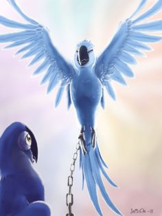 Chained Angel by JeMiChi on DeviantArt Disney Pixar, Disney Characters, Fictional Characters, Rio Movie, Lion King Fan Art, Rio 2, Respiratory Therapy, Character Ideas, Bird Feathers