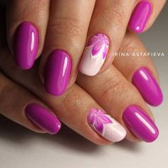 Nail art Christmas - the festive spirit on the nails. Over 70 creative ideas and tutorials - My Nails Diy Nails, Cute Nails, Pretty Nails, Pink Nail Art, Toe Nail Art, Fabulous Nails, Gorgeous Nails, Magenta Nails, Nail Swag