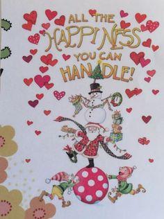 All The Happy-Handmade Fridge Magnet-Mary Engelbreit Artwork