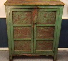Late 1800's Primitive Painted Pie Safe | Collectors Weekly