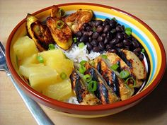 jamaican jerk chicken bowls - Budget Bytes  Choose pineapple chunks in juice or a fresh pineapple.