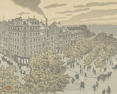 From the Boulevard de Clichy (Du Boulevard de Clichy), 1902, Henri Rivière, Van Gogh Museum, Amsterdam (Vincent van Gogh Foundation)