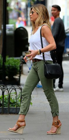 Working it: Jennifer was spotted leaving the gym at one point during the day holding a small coffee in addition to her fave Smartwater