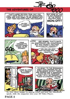 Spirou 2000 p.2 (ill. Franquin; Copyright (c) 1957 Dupuis and the artist; SR restoration & scanlation)