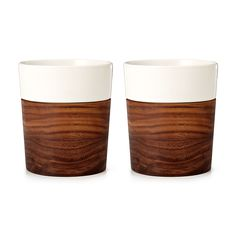 WOOD AND CERAMIC TUMBLERS #uncommongoods #homedecor #organizingidea