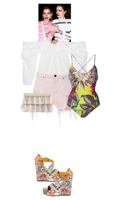 """""""Primarosa #8240"""" by canlui ❤ liked on Polyvore featuring J.W. Anderson, Alexander Wang, Mara Hoffman and Studio Pollini"""