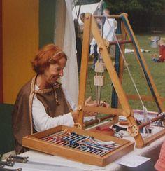'A'-frame style loom. Hilke Eckardt