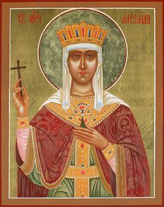 icon of saint Alexandra Byzantine, Saints, Princess Zelda, Fictional Characters, Inspiration, Art, Biblical Inspiration, Art Background, Kunst