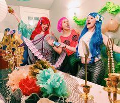 Mermaid bachelorette party! Mermaid decor. Under the sea. The Little Mermaid.