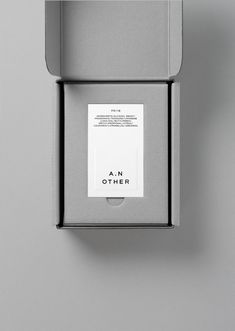 Graphic identity and package design by Socio Design for luxury fragrance brand A.N Other