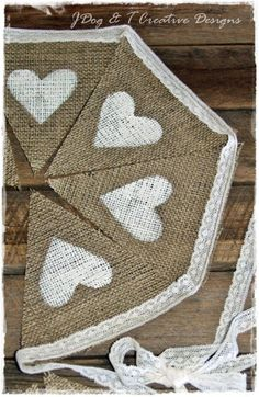 burlap bunting decoration