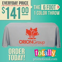 This 6' One Color #Tablecover is the ideal professional cost-effective merchandising item!